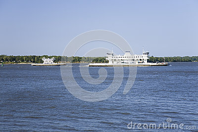 Two ferry boats with cars c Editorial Image