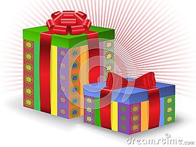 Two festive boxes