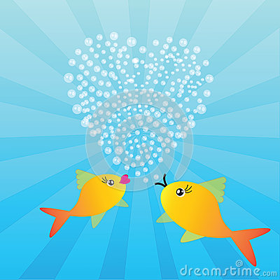 Two fishes in love