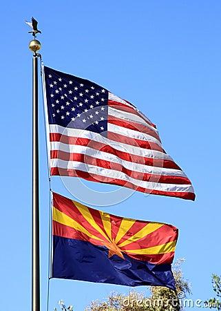 USA, Arizona: Two Flags