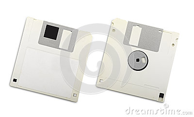 Two floppy disks