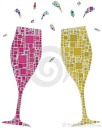 Two flutes for a cheers