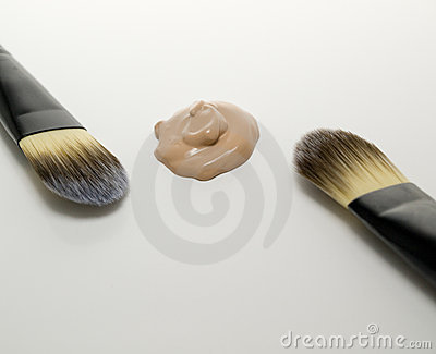 Two foundation brushes