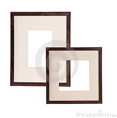Two frame for picture on white background