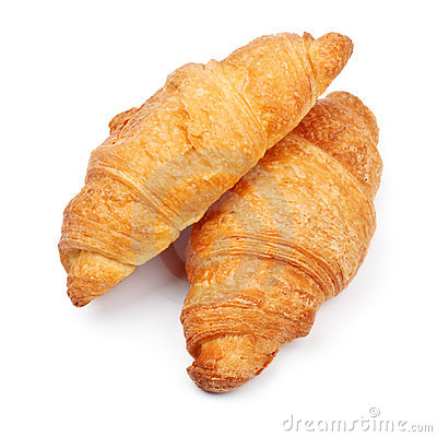 Free Two Fresh Croissant Royalty Free Stock Photography - 17621087