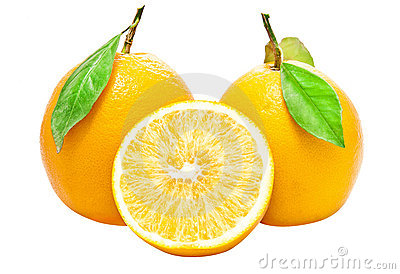 Two Fresh Oranges