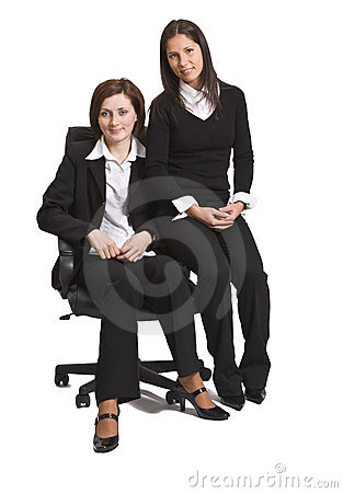 Two friend businesswomen