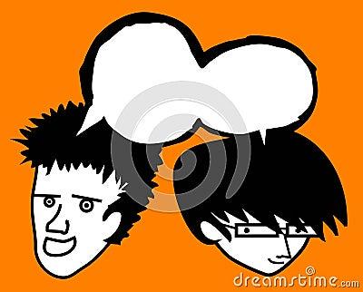 Two friend comic