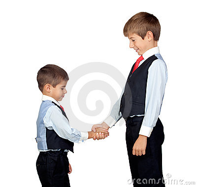 Two friendly businessmen