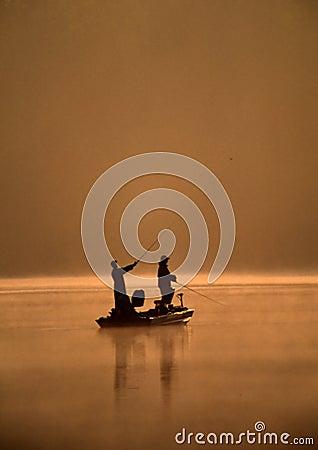 Two Friends Fishing