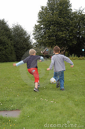 Two friends playing