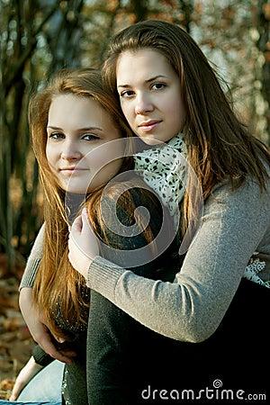 Two friendship girls