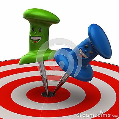 Two fun thumbtack in target
