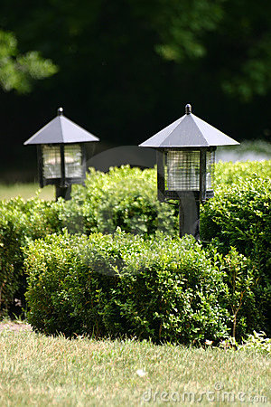 Two garden lights