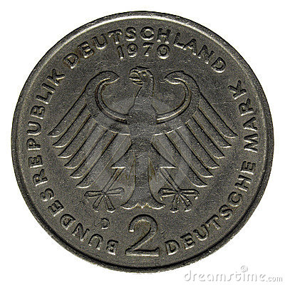 Free Two German Marks Coin Stock Images - 6809394
