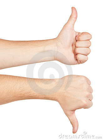Two gesturing hands