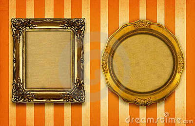 Two gilded frames
