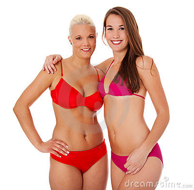 Two girls in bikini