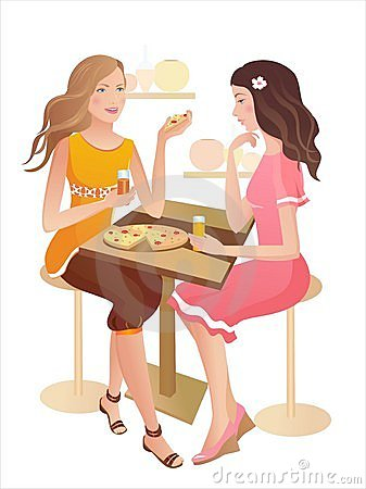Two Girls At A Cafe Stock Photography Image 15533802