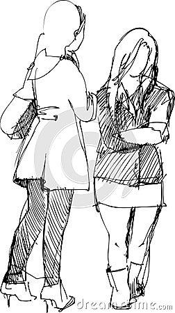 two girls communicate