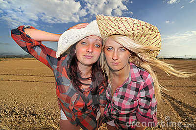 Two Girls in the Countryside