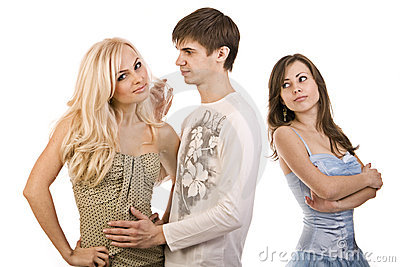 Two girls and a guy, rivalries, he makes a choice,