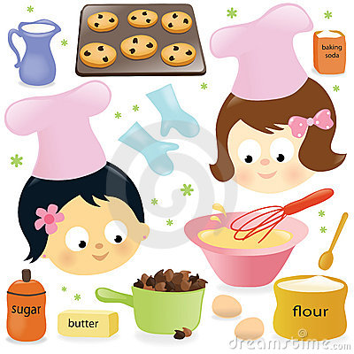 Free Two Girls Having Fun Baking Stock Photos - 22437653