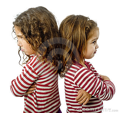 Free Two Girls In Quarrel Royalty Free Stock Photography - 6831867