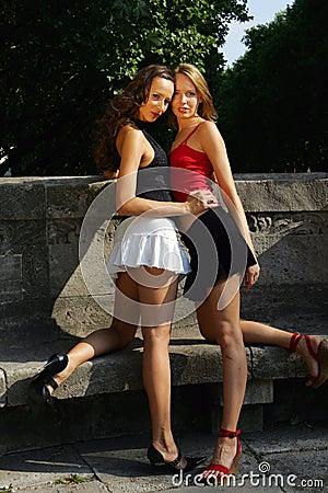 Free Two Girls Posing Stock Photos - 1005383