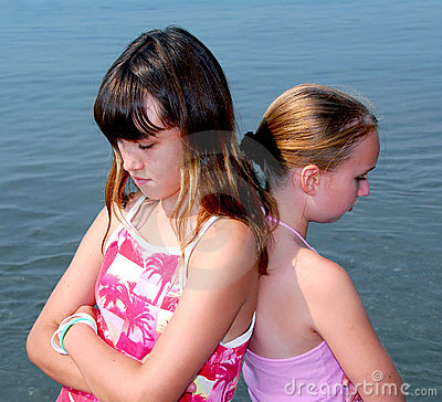 Free Two Girls Pouting Royalty Free Stock Images - 1023569
