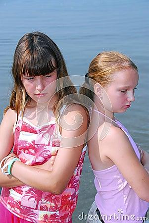 Free Two Girls Pouting Stock Photo - 1023590