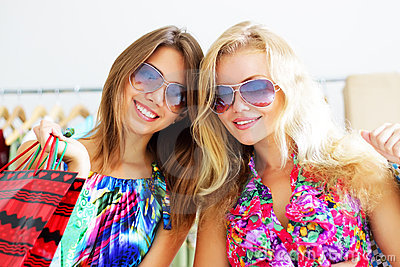Image result for 2 girls on shopping