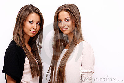 Two girls twins