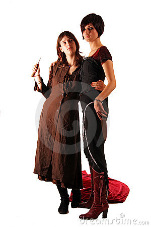 Free Two Girls With A Knifes Stock Photography - 7624182
