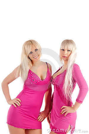 Two glamour blondes