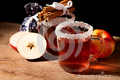 Two glass of mulled wine
