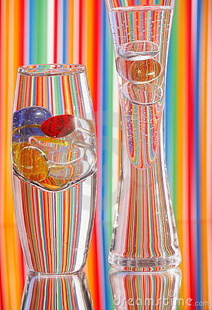 Two Glass Vases & Bright Color