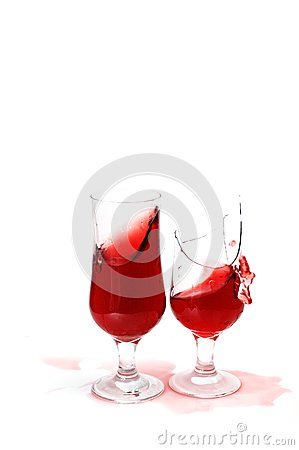 Two glass with wine