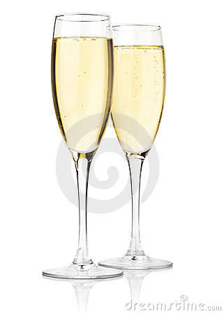 Free Two Glasses Of Champagne Royalty Free Stock Photo - 15382375
