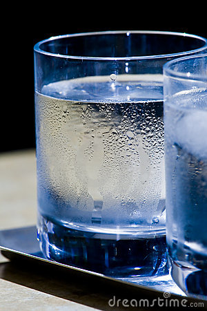 Free Two Glasses Of Icy Water Stock Images - 18815054