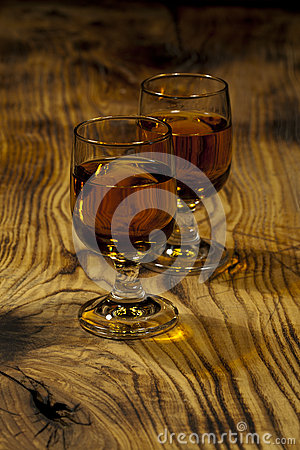 Two glasses of Scotch whisky