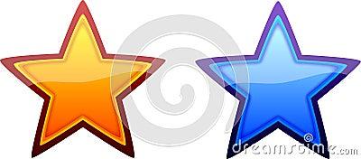 Orange and Blue Stars
