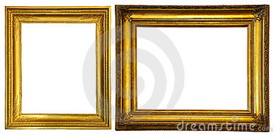 Two gold frames.