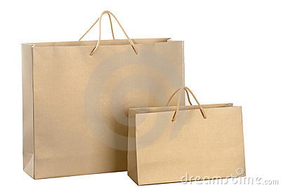 Gold Paper Shopping Bag Royalty Free Stock Images - Image: 23167639