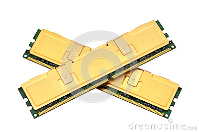 Two gold ram