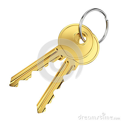 Two golden door keys