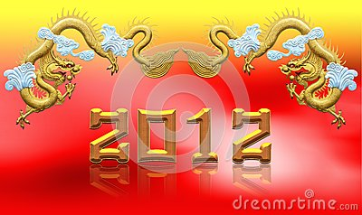 Two golden dragons 2012