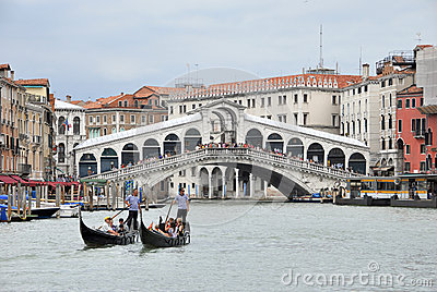 Two gondoliers Editorial Image
