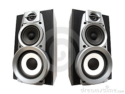 Two great loud speakers