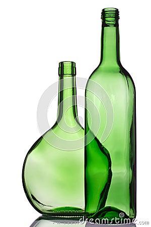 Free Two Green Bottles Royalty Free Stock Photos - 1760468